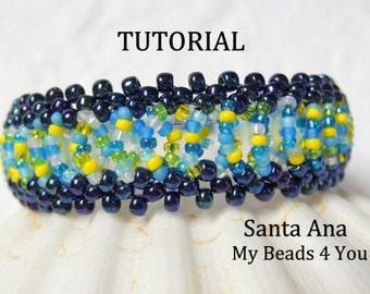 Beading Tutorial, Beaded Bracelet Pattern, Schemi, Pattern, Seed Bead Tutorial, PDF Beaded Bracelet Pattern, How to Bead, DIY, MyBeads4you