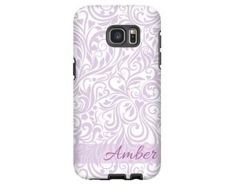 Vintage Floral Galaxy S8 case, lavender Galaxy Note 8 case, Galaxy S7 case, floral Galaxy S6 case, personalized Samsung Galaxy S8 Plus case