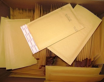 Bulk 500 Qty 6in x 10in Kraft Bubble Mailer Size 0 Padded Bubble Mailing Envelopes, ship to 48 USA states only.