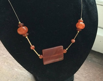 Red Agate & Carnelian necklace.