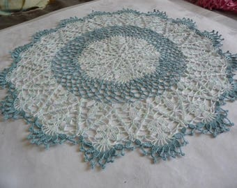 large doily blue gradient and blue