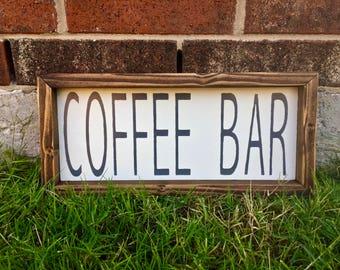 Rustic Coffee Bar Sign. FREE SHIPPING