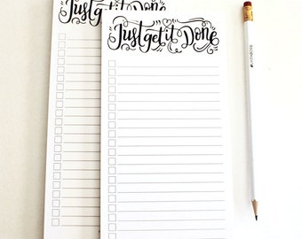 notepad - Just get it done - 50 tear-off pages