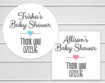 Baby Shower Favor Stickers, Baby Shower Stickers, Baby Shower Labels (#198)