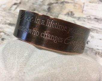 Once in a Lifetime Copper Cuff Bracelet