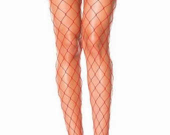 Large Red White Black Net tights Pantyhose Panty Hose Mesh Diy Tights Fishnet Stockings Instagram Fashion Large Hole fishnet Rave fishnets