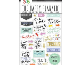 The Happy Planner - Create 365 - Me and My Big Ideas - Fitness Planner Stickers