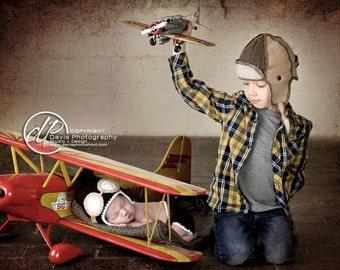 Aviator cap with goggles set!