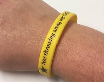 Hamilton Inspired Silicone Wristband - Adult size