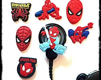 Hearing Aid Tube Trinkets or Cochlear Cuties:  Spiderman Inspired Cartoon Characters!  Please select quantity 2 for a pair!