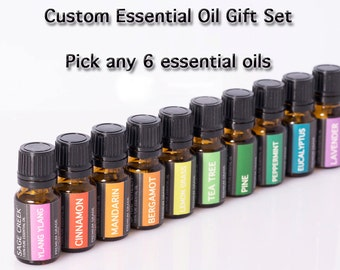 Essential oil gift set, pure essential oils, essential oil kit, custom gift set