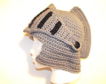 Knight Helmet Crochet hat