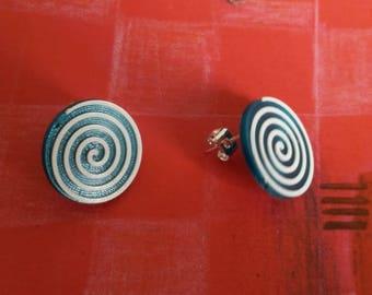 3D Printed Vortex Earrings