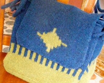 Felted Wool Messenger Bag