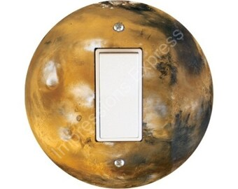 Planet Mars Space Decora Rocker Switch Plate Cover