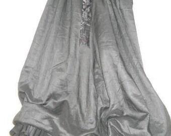 Jet black chic quirky funky pants trousers culottes linen all sizes plus regular lagenlook layerlook layering boho festival OSFA RitaNoTiara