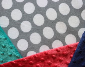 Gray and White Polka Dots Baby Blanket