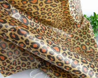 "Leopard Tissue Paper - 24 sheets Leopard Wild Animal Print - 20"" by 30"" Shop Packaging Gift Wrap Tissue - Wrapping Paper - Leopard Gift Wrap"