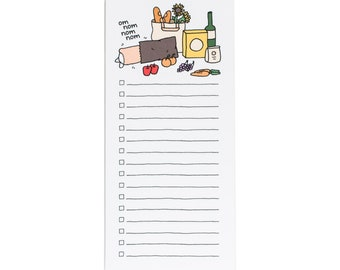 Nom Nom marché liste Skinny bloc-notes, Farmers Market, bloc-notes de Corgi, chien le bloc-notes, pour faire la liste, liste, drôle de cadeau, cadeau de Corgi, pour faire la liste du marché