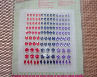 stones 132 stickers stickers blue purple pink color rhinestones