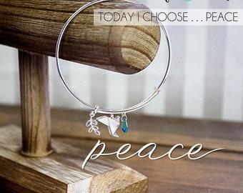 Peace Dove Bangle Bracelet