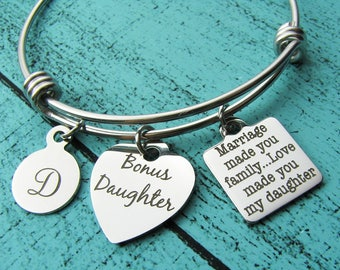 step daughter wedding gift, daughter in law gift from mother of groom, bonus daughter gift, blended family, step daughter gift from stepmom