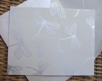 Notecards - Dragonflies - with Lined Envelopes (Set of 10)