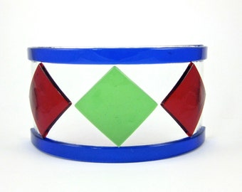 Red and Green Glass Candle Screen - Fused Glass Candle Holder - Small Glass Candle Screen - Christmas Decoration