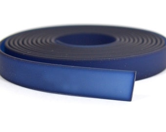 10mm Jelly Bands - Navy Blue - JB-11 - Choose Your Length