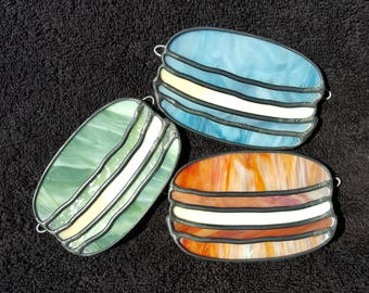 Digital Stained Glass Pattern - French Macarons • Resale Friendly