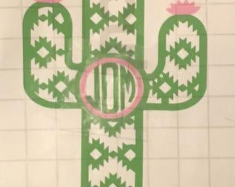 Aztac cacts monogram
