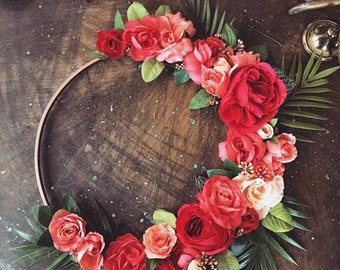 Tropical Peony & Rose Ring Wreath