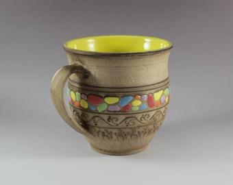 Handmade Ceramic Mug, Big Coffee Mug, Big Tea Mug, Mug – Pottery, Gift for Him, Gift for Her, 18 oz mug