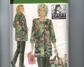 Misses Sewing Pattern Simplicity 4746 Misses Hobby Coat Pants Bag Plus Size 6 8 10 12 14 16 UNCUT