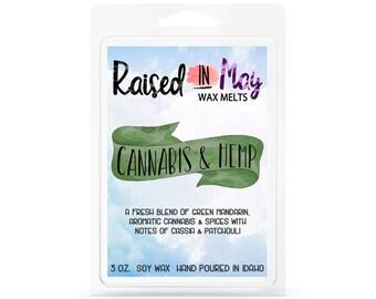 Cannabis and Hemp Wax Melts - Wax Cube - Home Fragrance - Cannabis Scent - Soy Wax Tart - Soy Wax Melt - Soy Wax - Candle - Soy Candle - Wax