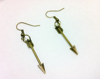 Arrow FSU earrings - bronze charm Florida State FSU Seminoles earrings