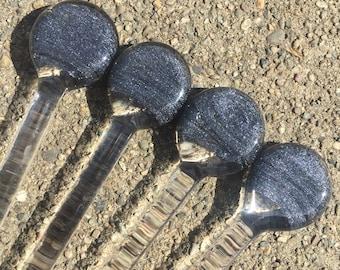 Sparkly drink stir sticks set of 5 by oceanbeachglass