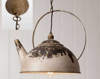 Kettle Pendant Lamp, farmhouse lighting, restaurant lighting, dining room lighting