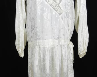 Beautiful 1920's Flapper Length Wedding Dress - UK 8 10