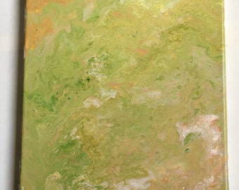 Green Acrylic Pour