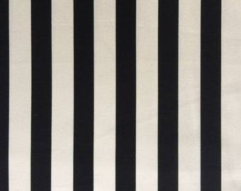 Japanese Sevenberry fabric - Canvas - large stripes - by 50 cm (110 x)