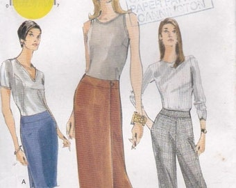 ON SALE Vogue Sewing Pattern - No 9856 Skirt, Pants  Size 12-16 Factory folded and complete