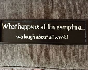 What happens at the campfire...