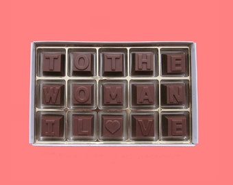 Romantic Girlfriend Gift for Wife Birthday Gift for Her Gift Anniversary Gift for Woman Gift You To The Woman I Love Milk Chocolate Message