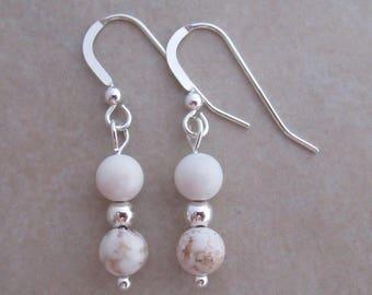 magnesite earrings sterling silver dangle