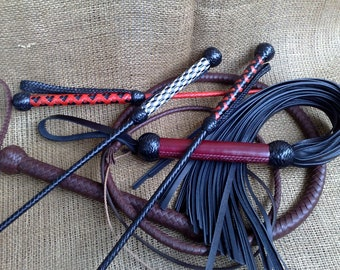 Leather flogger / Adult toy / BDSM whip