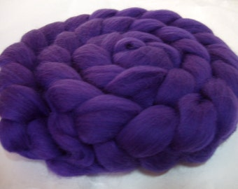 Merino wool roving, merino roving, roving wool, merino spinning fiber, 20 mic, felting wool, dreads, dolls hair, DEEP PURPLE, 3.5oz, 100g