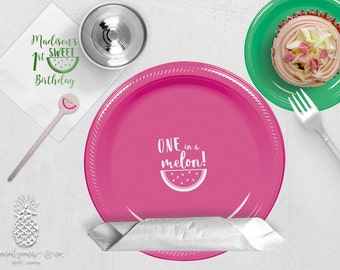 Watermelon Party | Plates, Napkins or Cups Stir Stick | Birthday, Bridal or Baby Showers | social graces Co