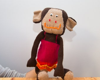 Hand Knitted Monkey hand puppet