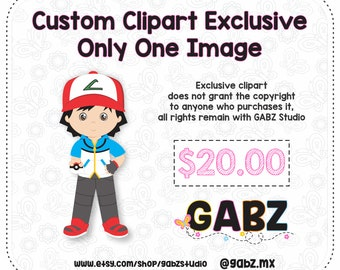 Custom Clipart Exclusive Only One Image, Clipart, GABZ, Not applicable with discount coupons.